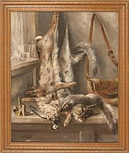 CLARENCE E. BRALEY, American, 1854-1927, Still life of hanging game., Oil on canvas, 27