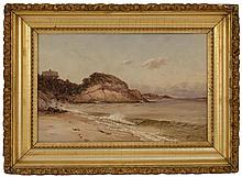 GAMALIEL WALDO BEAMAN, American, 1852-1937, Singing Beach, Manchester-by-the-Sea, Massachusetts., Oil on canvas, 12