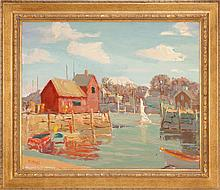 JOSEPH RIMINI, American, 1920-2000, Motif #1, Rockport, Mass., Oil on canvas, 20