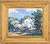 MABEL MAY WOODWARD, American, 1877-1945, North Shore home., Oil on canvas, 16