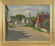 FRANCES S. BUTLER, American, 1894-1984, Street scene of Marblehead, Massachusetts., Oil on canvas, 20