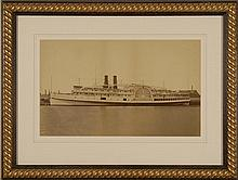 FRAMED PHOTOGRAPH OF THE SIDEWHEELER MASSACHUSETTS 12.5
