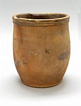 REDWARE POTTERY CROCK Stamped