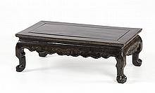 ZITAN LOW TABLE In rectangular form with claw & ball feet. Scroll-carved apron. Top 17.5