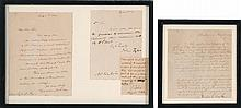 FOUR FRAMED LETTERS PERTAINING TO ALBERT FITZ Housed in two frames. Two letters signed by President John Tyler, one dated