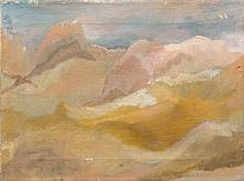 ATTRIBUTED TO A. F. WEISSMAN, American, 20th Century, Provincetown dunes, Oil on canvas, 12