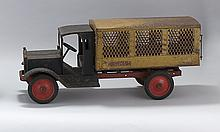 KEYSTONE MFG. CO. PRESSED STEEL U.S. MAIL TRUCK Original paint shows rust and wear. Length 28