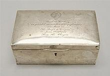 SILVER JEWEL BOX Inscribed