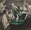 W. SMITHSON BROADHEAD, American, 1888-1960, Original book illustration: Back Room Card Game., Oil on canvas, 30
