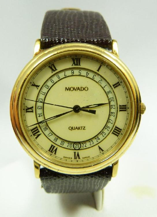 MEN'S MOVADO GOLD PLATE DRESS WATCH