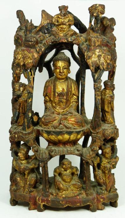 CHINESE SONG DYNASTY TREE TRUNK CARVING