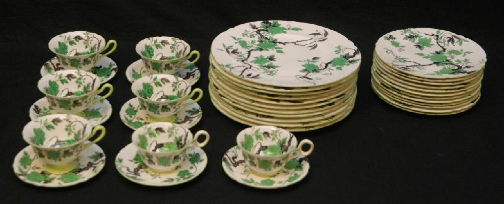 36pc SHELLEY CHIPPENDALE PORCELAIN CHINA SET
