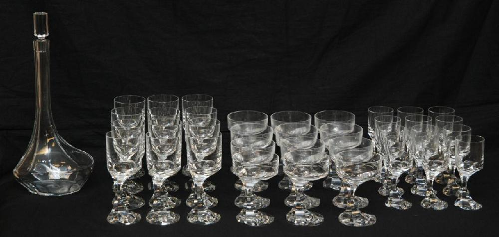 37 PIECE BACCARAT 'NARCISSE' CRYSTAL STEMWARE SET