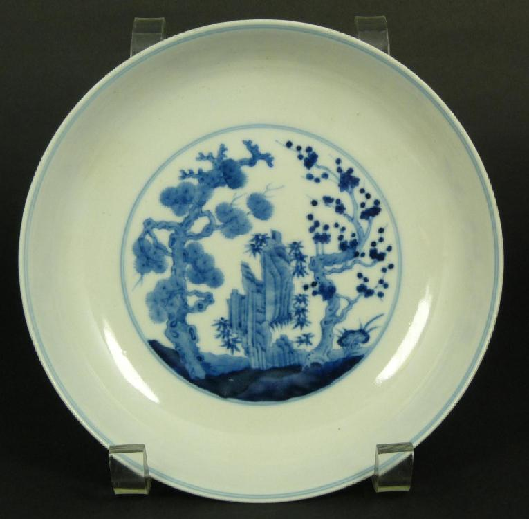 18th CENTURY CHINESE BLUE & WHITE PORCELAIN BOWL