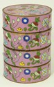 19th C CHINESE CLOISONNE FOUR SECTION BOX