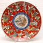 JAPANESE BUDDHA w CHILDREN PORCELAIN CHARGER