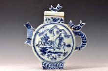 Chinese Porcelain Blue and White Lidded Ewer