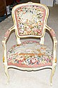 Arm Chair w/Tapestry w/ Dove Seat & Back