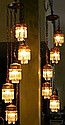 Pr. Vintage Five Hanging Light w/Prisms