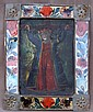 1850's Mexican (Oil on Tin) Icon of San Lugardo