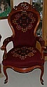Cherry Carved Gentleman's Chair