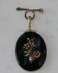 Victorian 14 Kt YG Mourning Locket w/Diamonds