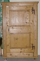 One Door Pine Armoire w/ Hand Wrought Hinges