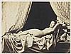 Félix-Jacques Antoine MOULIN (1802-1875). Nu allongé. 1852-1853. Épreuve d'époqu