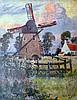 Eugène Henri A. CHIGOT (1860-1923) Le moulin Huile sur toile signée en bas à dro
