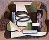 Serge CHARCHOUNE (1888-1975). Composition à la spirale, VI/1943. Huile sur papie