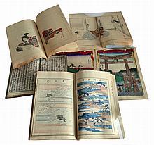 Lot de cinq LIVRES d'ESTAMPES japonaises, XIXe XXe.