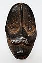 BETE  Côte d'Ivoire  Masquette «protectrice de case» Niabwa. Cette rare masque
