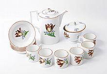 MEISSEN Kaffeeservice für 6 Personen, Marcolini, um 1800.