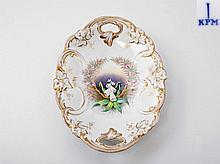 KRISTER WALDENBURG Porzellan Manufaktur, ovale Anbietschale, 20. Jh.,