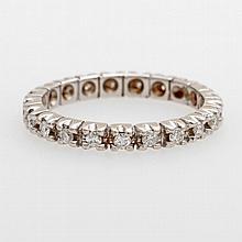 Memoire Ring mit 21 Diam.-Brill. zus. ca. 0,52ct.,