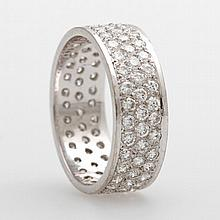 Memoire Ring, 3 reihig, Brill. zus. ca. 2,3ct, TW-W/ VS-Si.