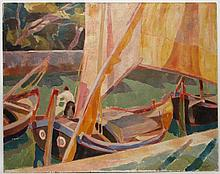 BÖLCSKEY, Ferenc (1897-1976), 'Boote in Venedig'