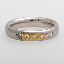 Damenring m. Diamanten zus. ca. 0,135ct (punziert).