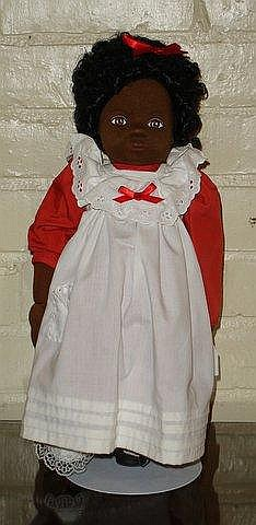 Black cloth doll possibly by Kathe Kruse