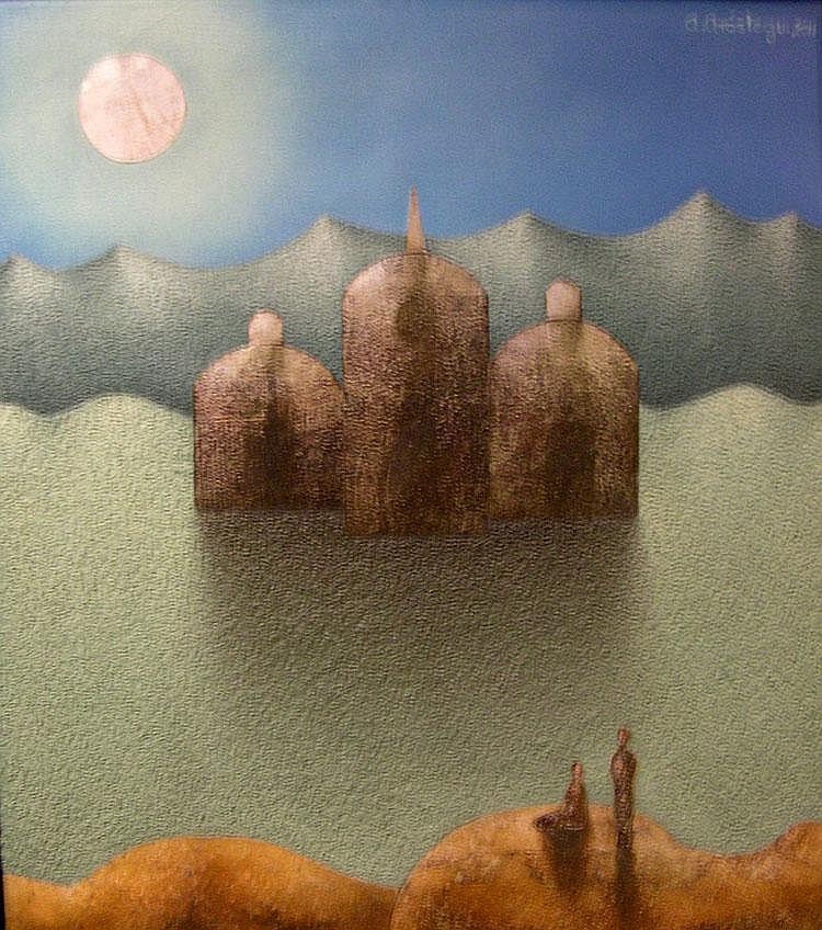 Nocturno con Templo by Alejandro Arostegui