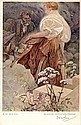 MUCHA, ALPHONSE. Reproduction Artwork Signed - (REPS)
