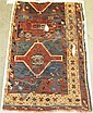 Sivas rug fragment, central anatolia, circa 1800, mounted on linen