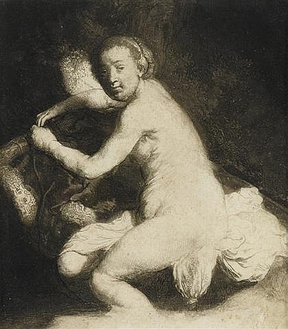 REMBRANDT VAN RIJN, (DUTCH 1606-1669), DIANA AT THE BATH