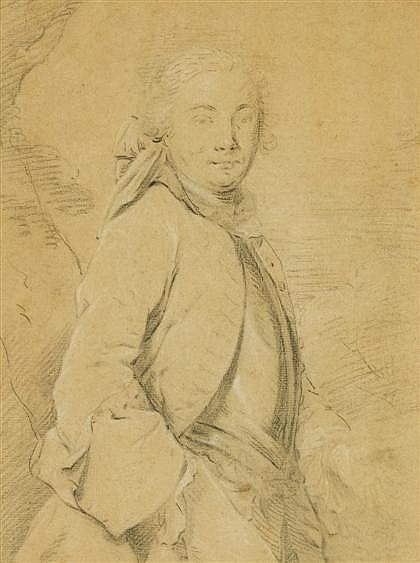 FRENCH SCHOOL, (18TH CENTURY), PORTRAIT OF A GENTLEMAN, THREE-QUARTER LENGTH