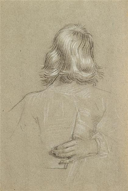 ATTRIBUTED TO DANIELE CRESPI, (ITALIAN 1598-1630), STUDY OF A MAN SEEN FROM BEHIND
