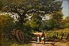 JOHN EVERETT MILLAIS, (BRITISH 1829-1896), LANDSCAPE AND FIGURES, Sir John Everett, Bt Millais, $3,000