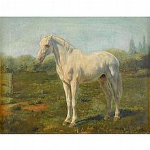 ROSA BONHEUR, (FRENCH 1822-1899), HORSE IN A LANDSCAPE
