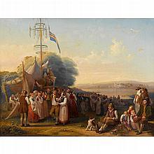 BENGT NORDENBERG, (SWEDISH 1822-1902)A FESTIVE GATHERING