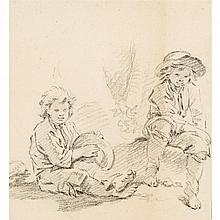 CIRCLE OF FRANCOIS BOUCHER, (FRENCH 1703-1770), TWO BOYS RESTING