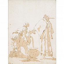 GIOVANNI RAGGI, (ITALIAN 1712-1792), STUDY FOR A WEDDING AT CANA